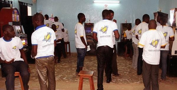 Newly opened gambling hall of Lydia Ludic in Ouagadougou, capital of Burkina Faso.