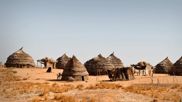 The picture shows a village located in Niger.
