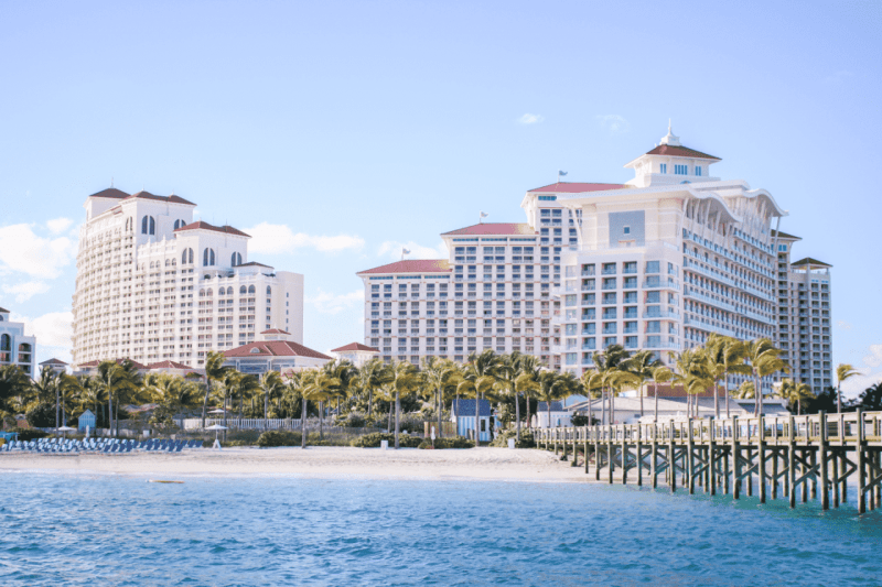 This is a picture of Grand Hyatt Baha Mar casino resort&hotel. Under the picture you can find a list of casinos in the Bahamas and a list of online casinos accepting players from The Commonwealth of the Bahamas.