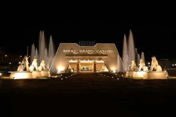 Facade of the Sinai Grand Casino in Sharm el Sheikh at night