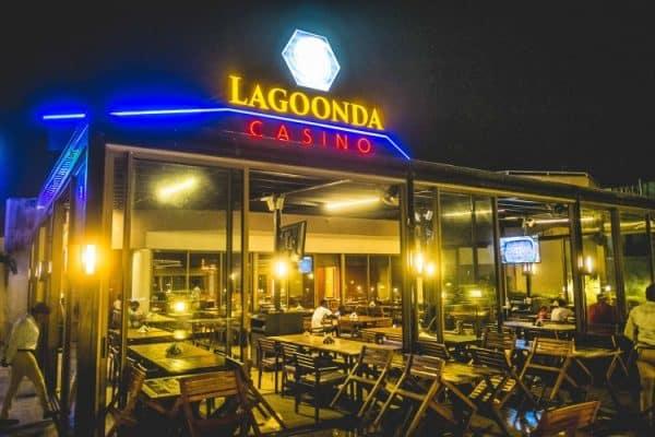 Facade of the Lagoonda Casino in Sierra Leone