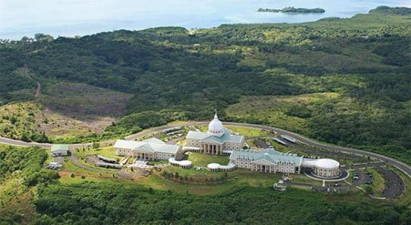 Aerial view of Ngerulmud, the capital of Palau
