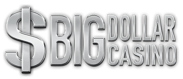 """This is the header image of my Big Dollar Casino review. The picture consist of the words """"Big Dollar Casino"""" over a white background."""