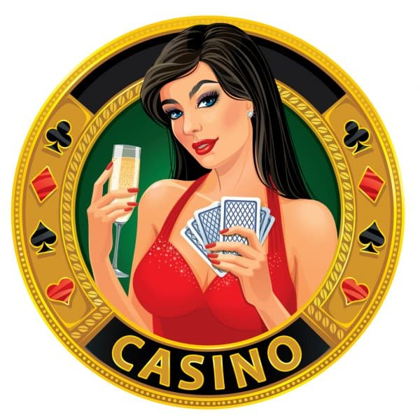 """This is a picture of a cartoon woman on a golden coin, which says """"casino"""". You can read about my winning gambling strategies on this page, with a video tutorial."""