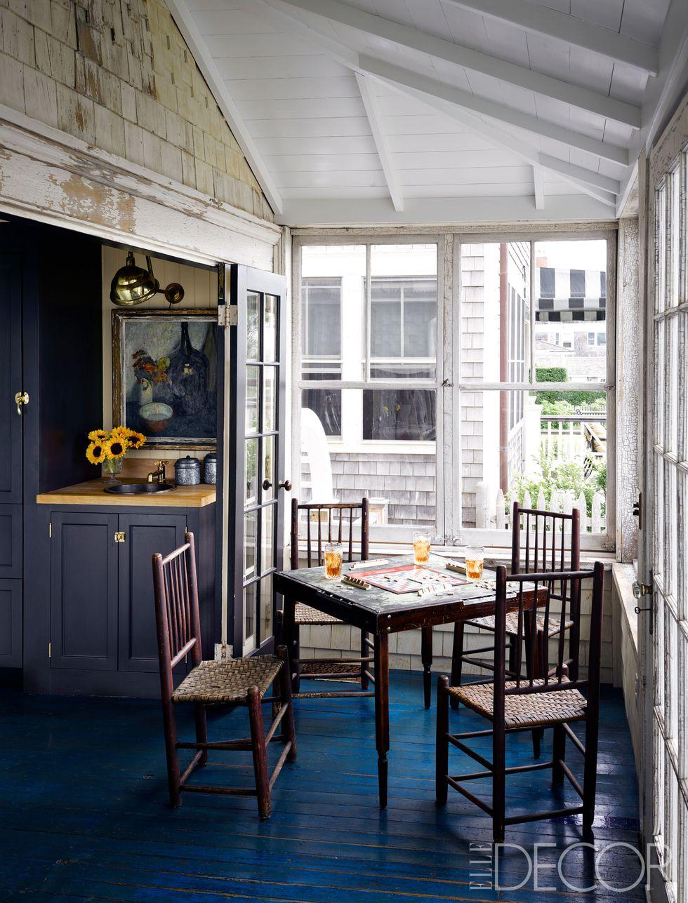 cape cod cottage, small kitchen, farrow & ball paint, antique stove