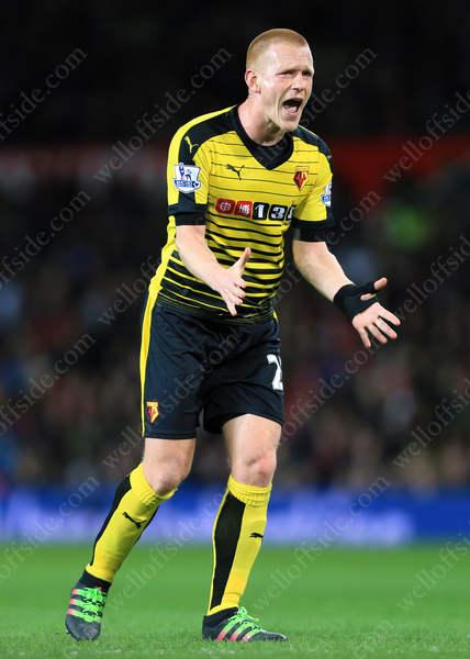 Ben Watson of Watford screams with annoyance