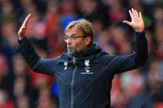 Liverpool manager Jurgen Klopp gestures