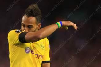 Pierre-Emerick Aubameyang of Dortmund looks dejected