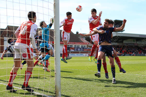 Match action from Fleetwood Town's derby match against local rivals Blackpool