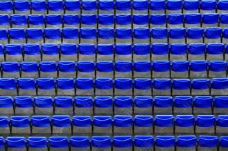 Empty blue seats at Everton