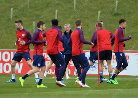 England manager Roy Hodgson oversees a training session at St. George's Park