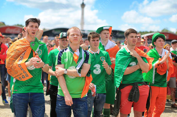 Irish fans have little to cheer about in the Fanzone