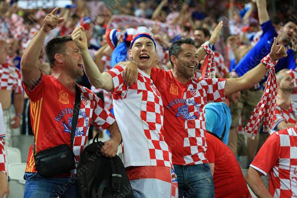 Croatia fans celebrate victory