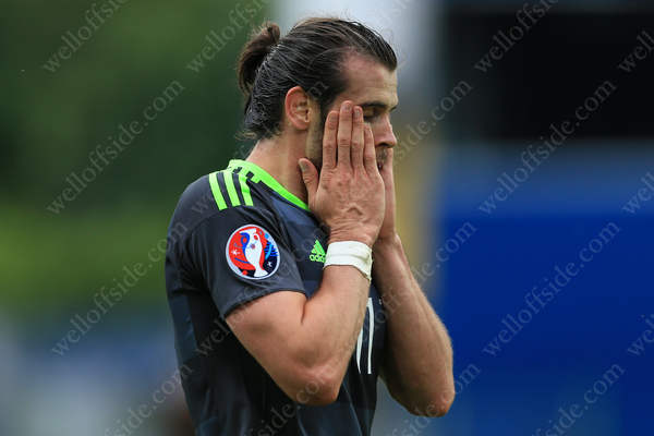 Gareth Bale of Wales fails to hide his disappointment
