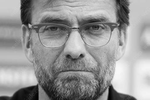 Liverpool manager Jurgen Klopp listens to questions during a press conference ahead of the UEFA Europa League Final