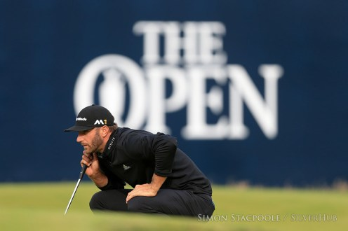 TROON, SCOTLAND - JULY 14: Dustin Johnson (USA) lines up a putt during the 145th Open Championship at Royal Troon Golf Club on 14th July 2016 in Troon, Scotland. Photo by Simon Stacpoole/SilverHub 0203 174 1069 / 07711 972644