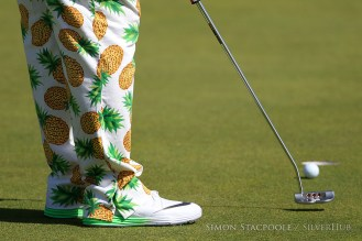 TROON, SCOTLAND - JULY 14: John Daly (USA) wears trousers with pineapple prints on during the 145th Open Championship at Royal Troon Golf Club on 14th July 2016 in Troon, Scotland. Photo by Simon Stacpoole/SilverHub 0203 174 1069 / 07711 972644