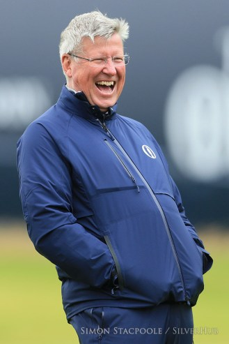 TROON, SCOTLAND - JULY 17: R&A Chief Executive Martin Slumbers laughs and smiles during the 145th Open Championship at Royal Troon Golf Club on 17th July 2016 in Troon, Scotland. Photo by Simon Stacpoole/SilverHub 0203 174 1069 / 07711 972644