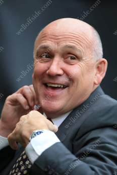 Hull manager Mike Phelan is all smiles ahead of his side's Premier League encounter with Chelsea