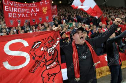 Liverpool fans show their support ahead of kick-off