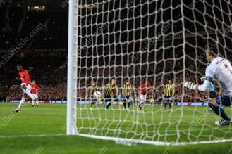 Paul Pogba of Man Utd scores their 1st goal with a penalty