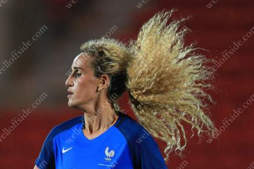 Kheira Hamraoui of France lets her hair fly free