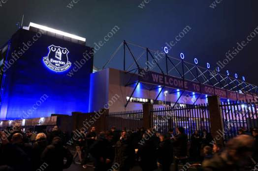 Goodison Park is very much blue ahead of the Merseyside Derby