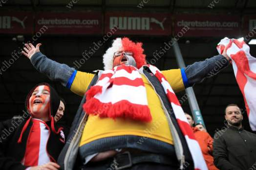 Lincoln fans celebrate their side's victory