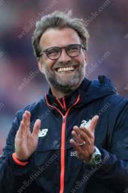Liverpool manager Jurgen Klopp celebrates victory