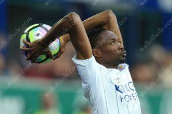 Ahmed Musa of Leicester takes a throw-in