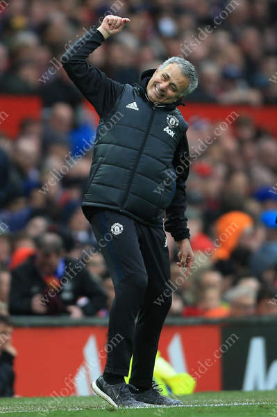 Man Utd manager Jose Mourinho vents his frustration during his side's match against Chelsea