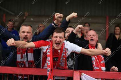 Witton fans celebrate another goal