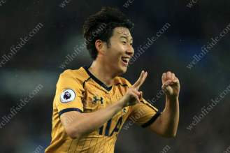 Son Heung-Min of Spurs celebrates after scoring their 2nd goal