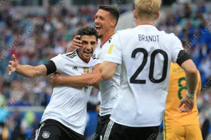Lars Stindl of Germany celebrates after scoring their 1st goal