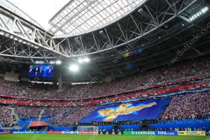 Fans inside the Krestovsky Stadium (Zenit Arena)