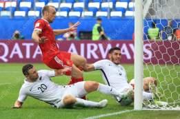 Denis Glushakov of Russia scores their 1st goal