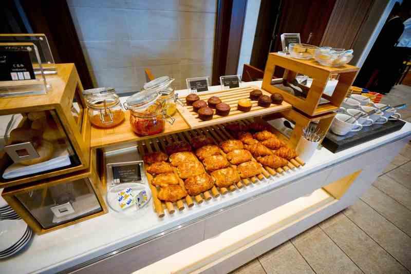 大阪萬豪都酒店 行政酒廊早餐食物種類