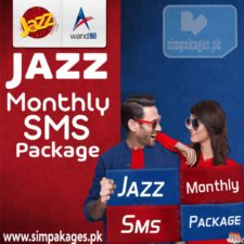 Jazz monthly sms packages