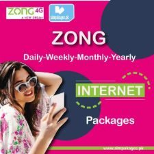 Zong daily weekly monthly yearly internet packages