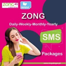Zong daily weekly monthly yearly sms packages