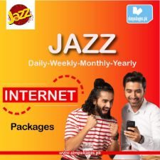 jazz daily weekly monthly internet packages