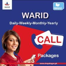 warid daily weekly monthly yearly Call packages