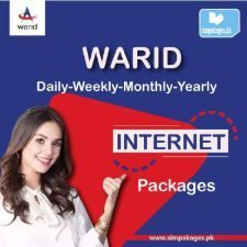 warid daily weekly monthly yearly internet packages