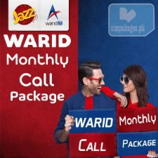 warid monthly call packages