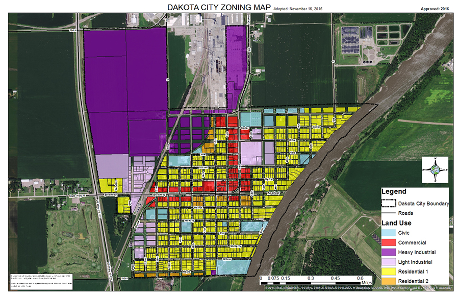 Dakota City Zoning GIS Map SIMPCO