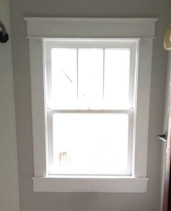 Original window casing that we were copying.