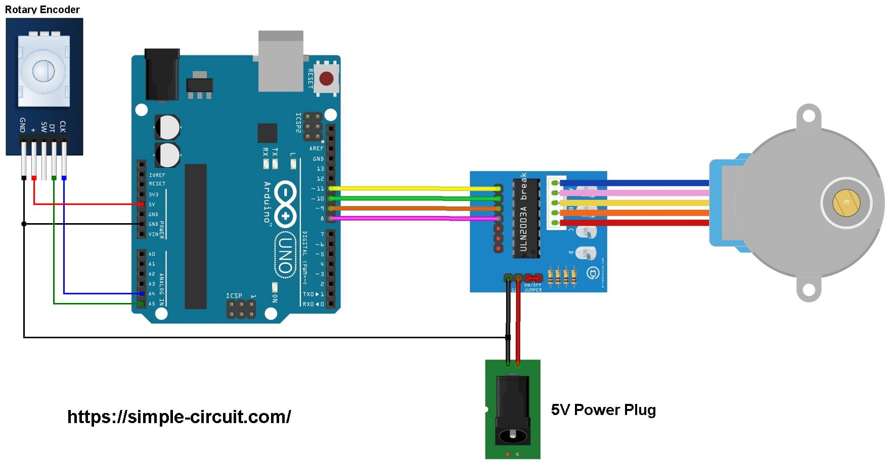 Arduino Stepper Motor Control With Rotary Encoder