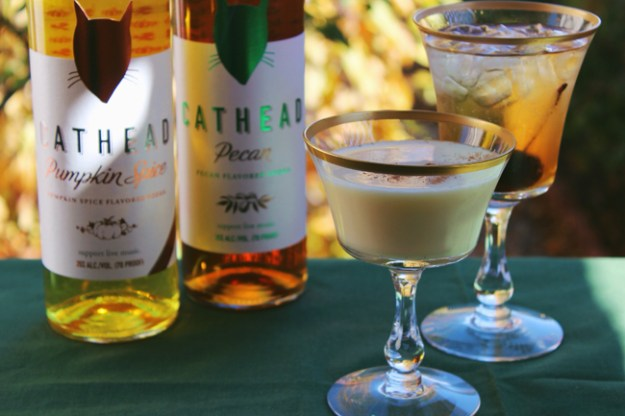cathead pumpkin spice and pecan vodkas