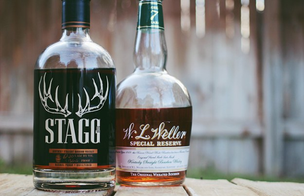 stagg jr and weller bourbons