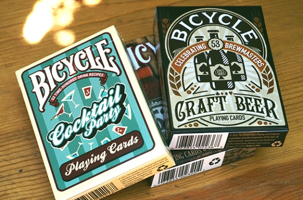 bicycle cocktail and beer cards
